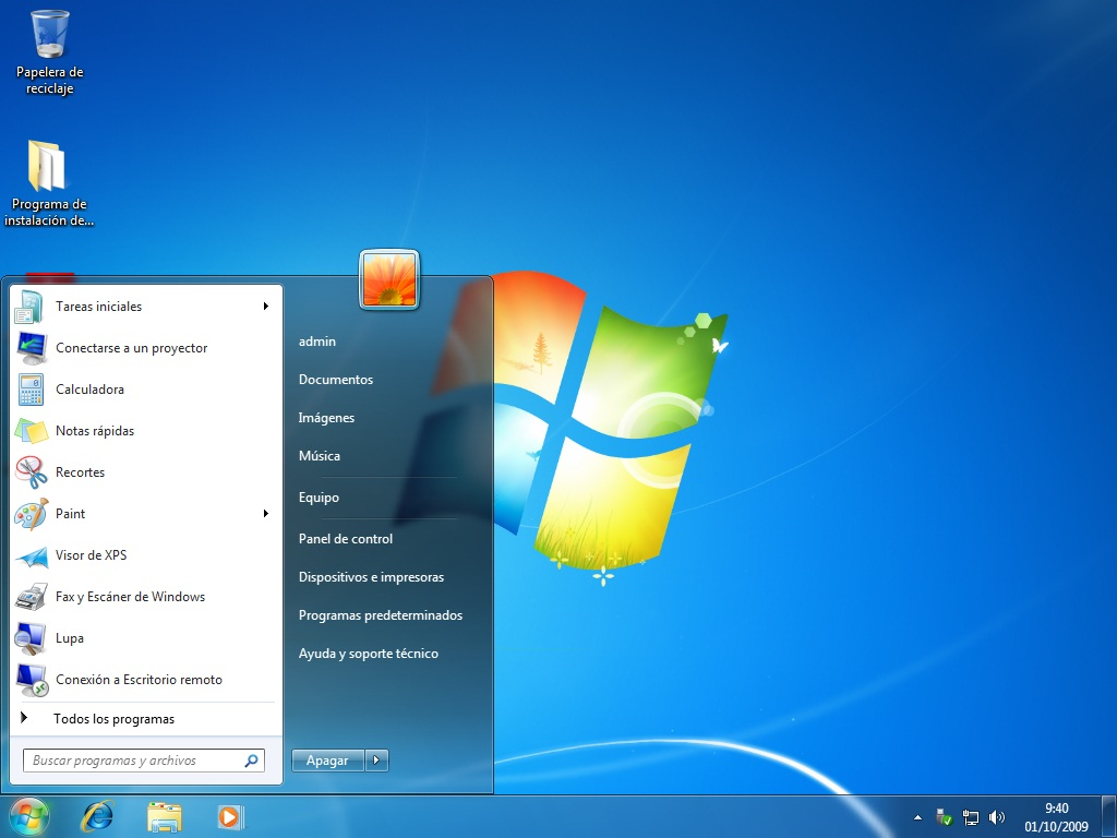 inicio windows 7