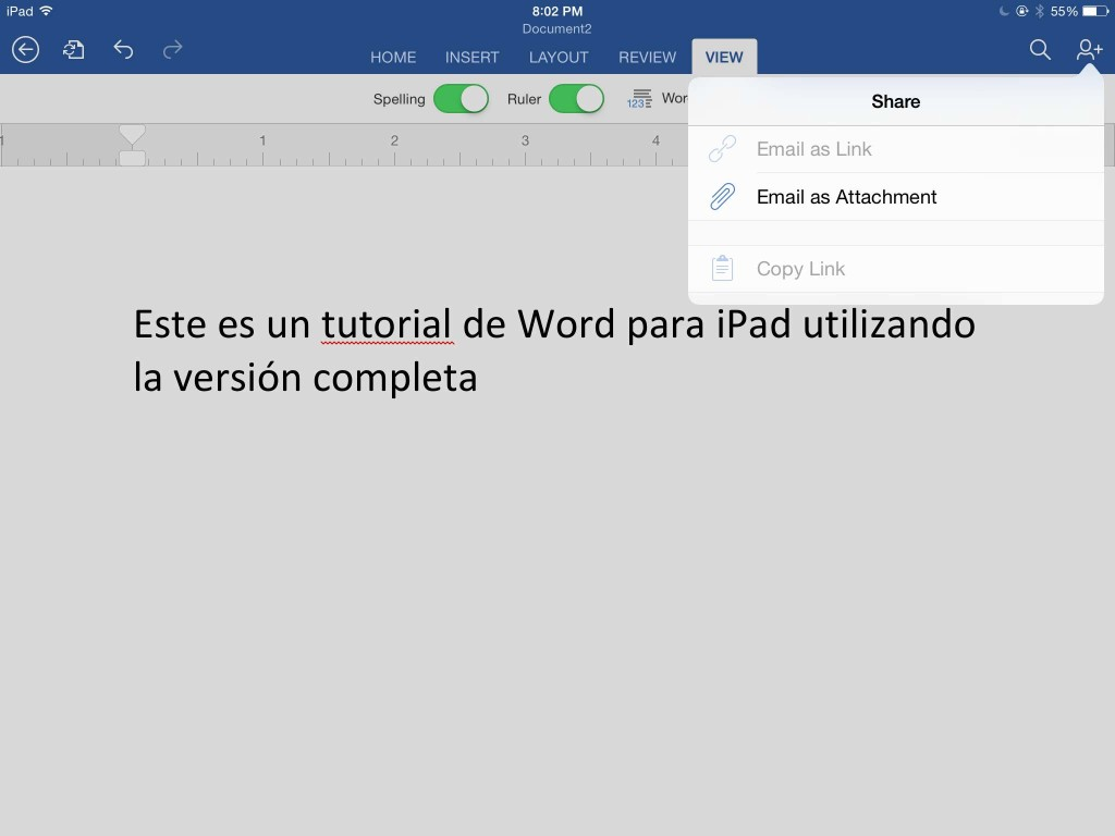 compartir documento word para ipad