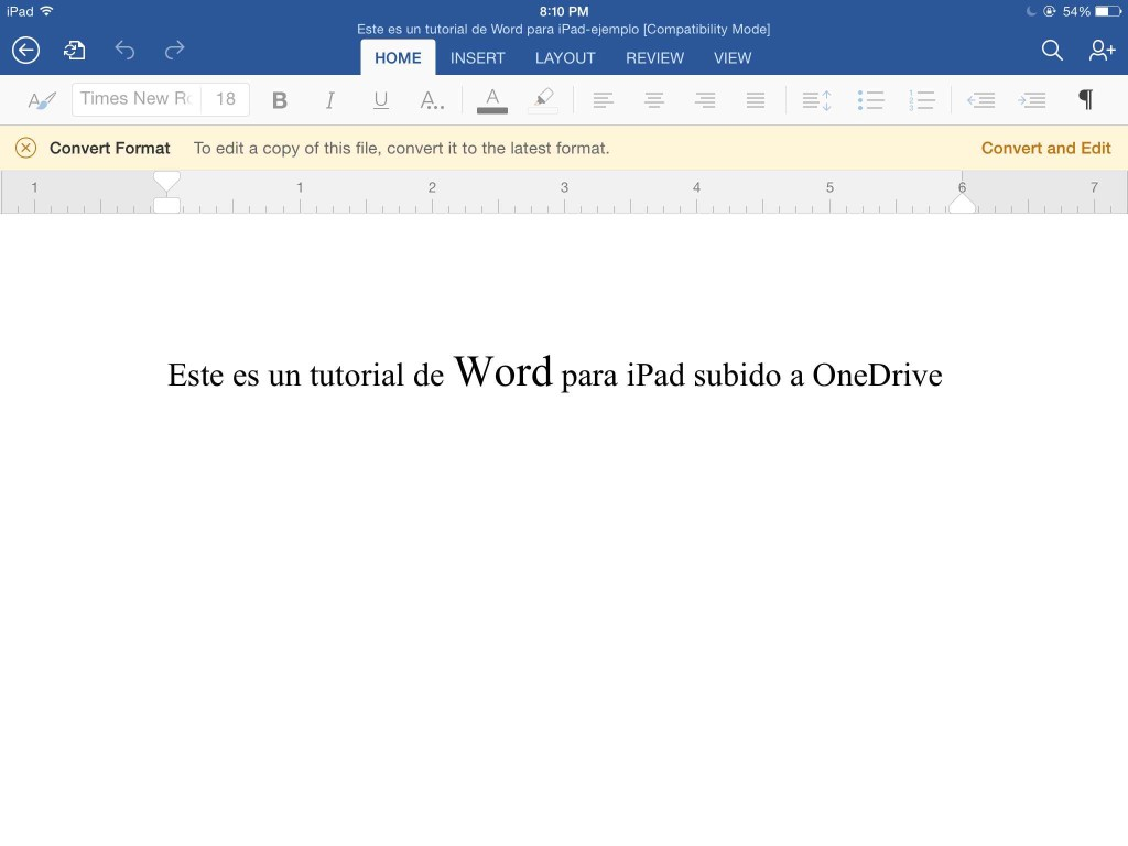Tutorial de Microsoft Word para iPad