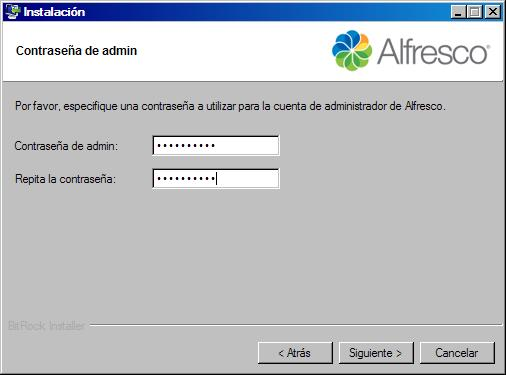 password alfresco