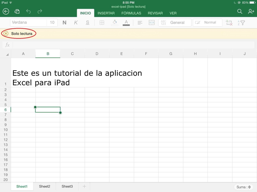 leer documento excel para ipad