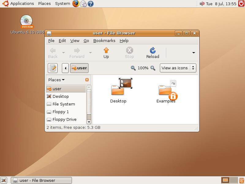 interface de ubuntu