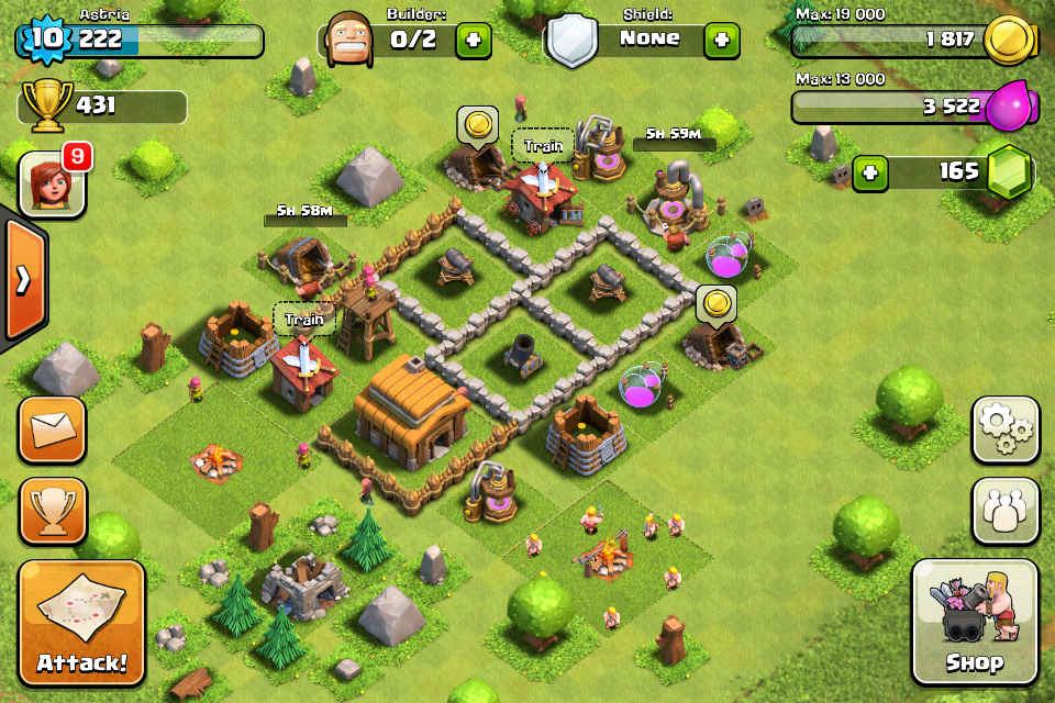 defense nivel 10 clash of clans