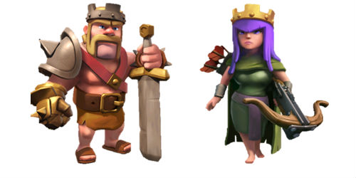 tropas heroes de clash of clans
