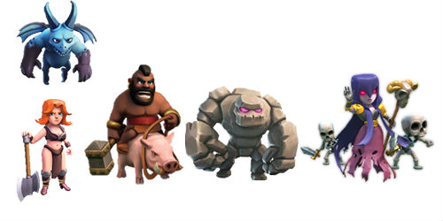 tropas oscuras de clash of clans