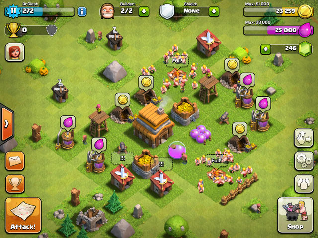 guardar elixir clash of clans