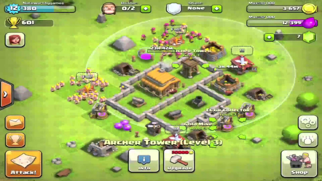 defensa nivel 12 clash of clans