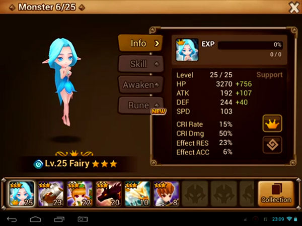 Summoners War Sky Arena Menu Monster