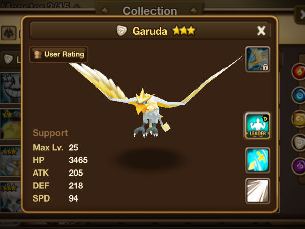 monstruo garuda Summoners War Sky Arena