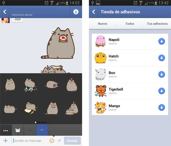 stickers de Facebook