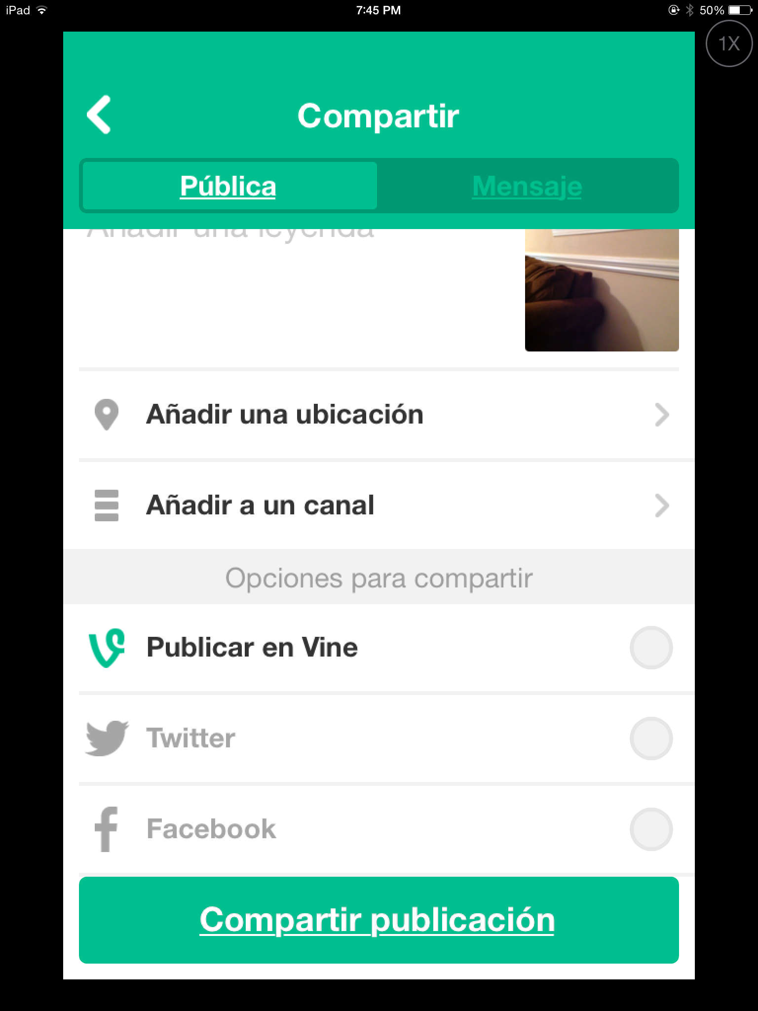 guardar video en vine
