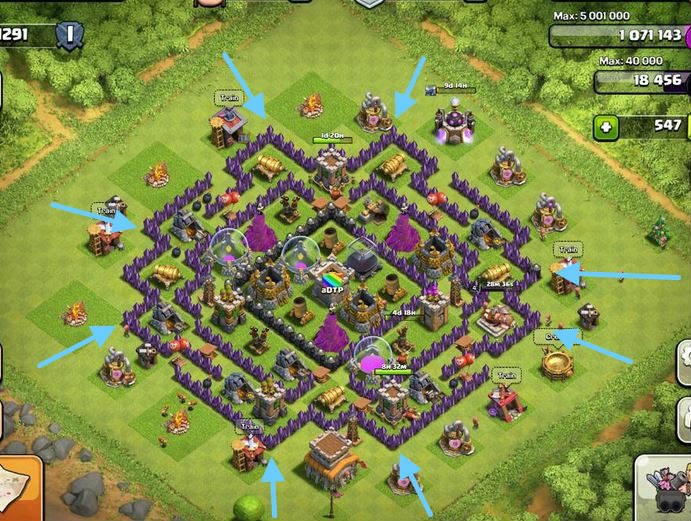 clash of clans defensa contra rompemuros