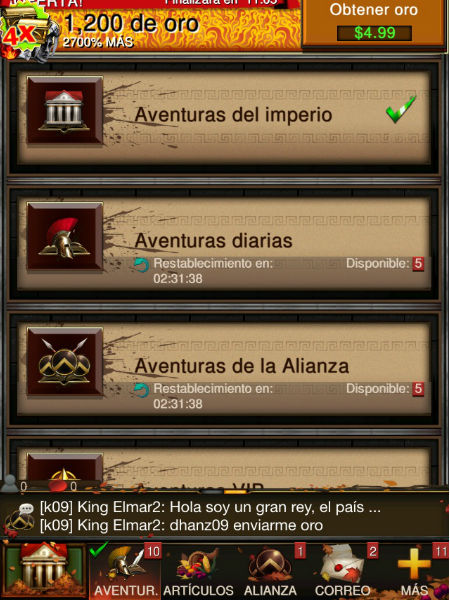aventuras en game of war