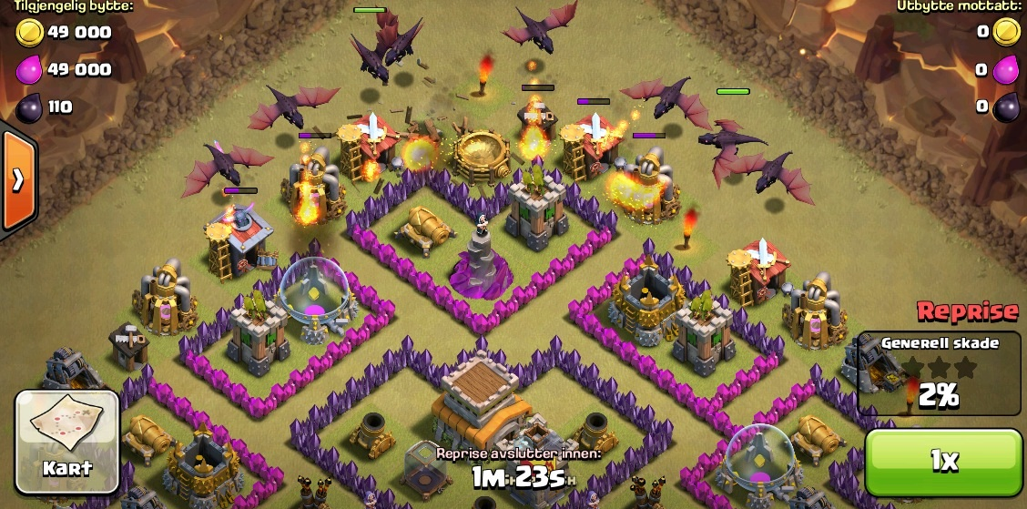como atacar con dragones en clash of clans