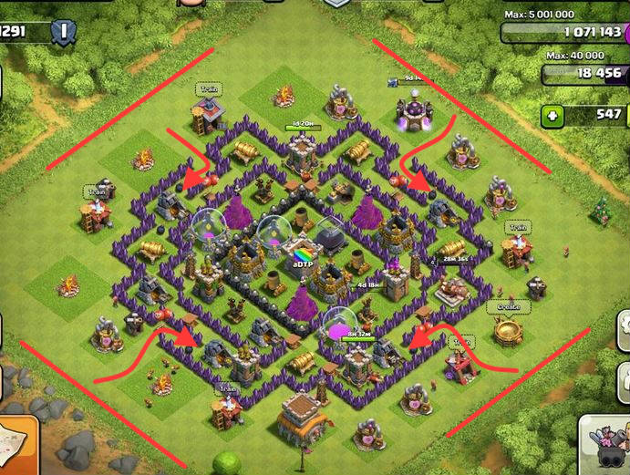 clash of clans defensa contra duendes