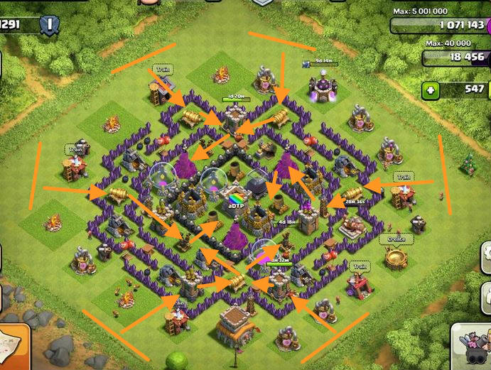 clash of clans defensa contra montapuercos