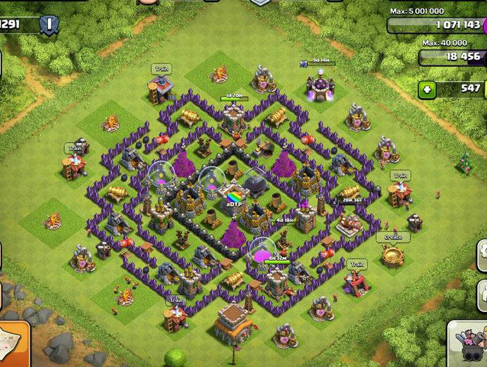 canalizacion clash of clans