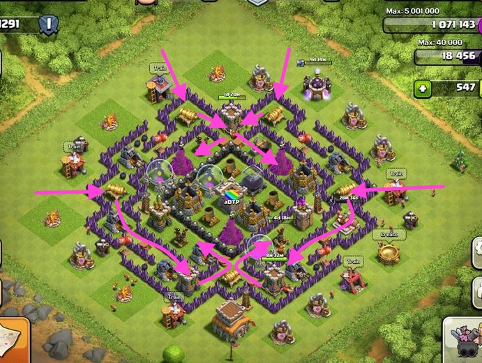 clash of clans defensa contra gigantes
