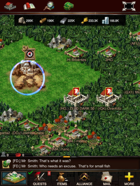 bosque en game of war