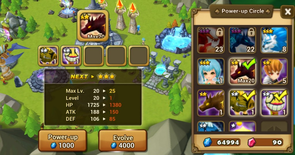 summoners war evolucion