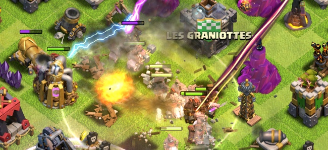 clash of clans torre infernal hechizo curativo