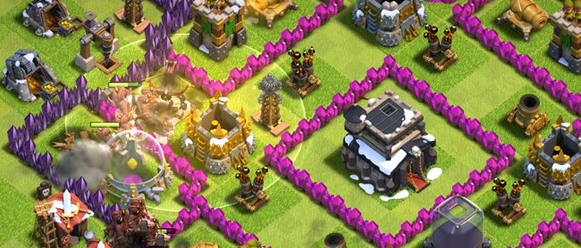 clash of clans usar hechizo curativo