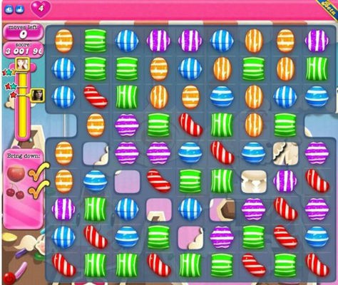 tipos de dulces candy crush
