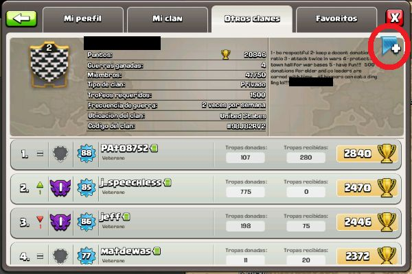clanes favoritos en clash of clans
