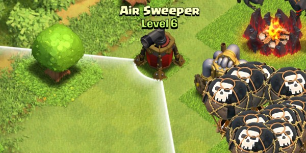 defensa controlador aereo de clash of clans