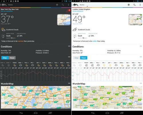 weather inderground para android y para iphone