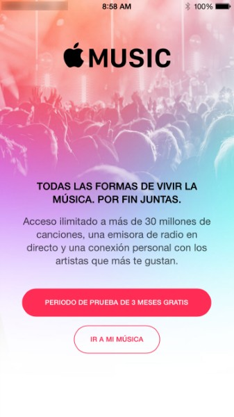 prueba de apple music