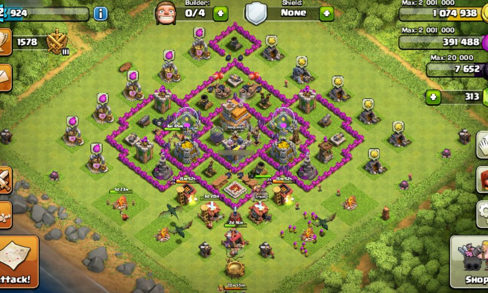 nueva aldea farming th7