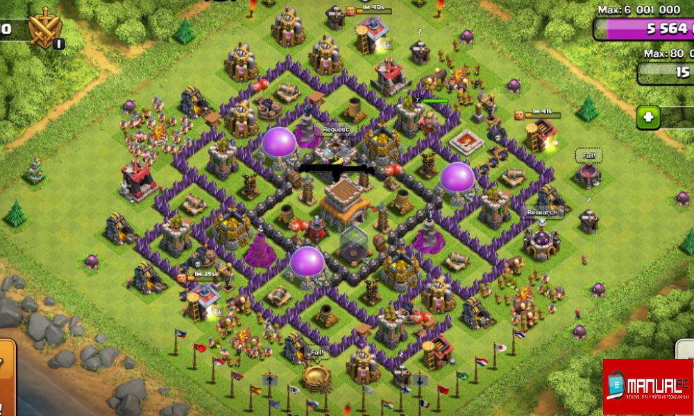 mejor base farming TH8