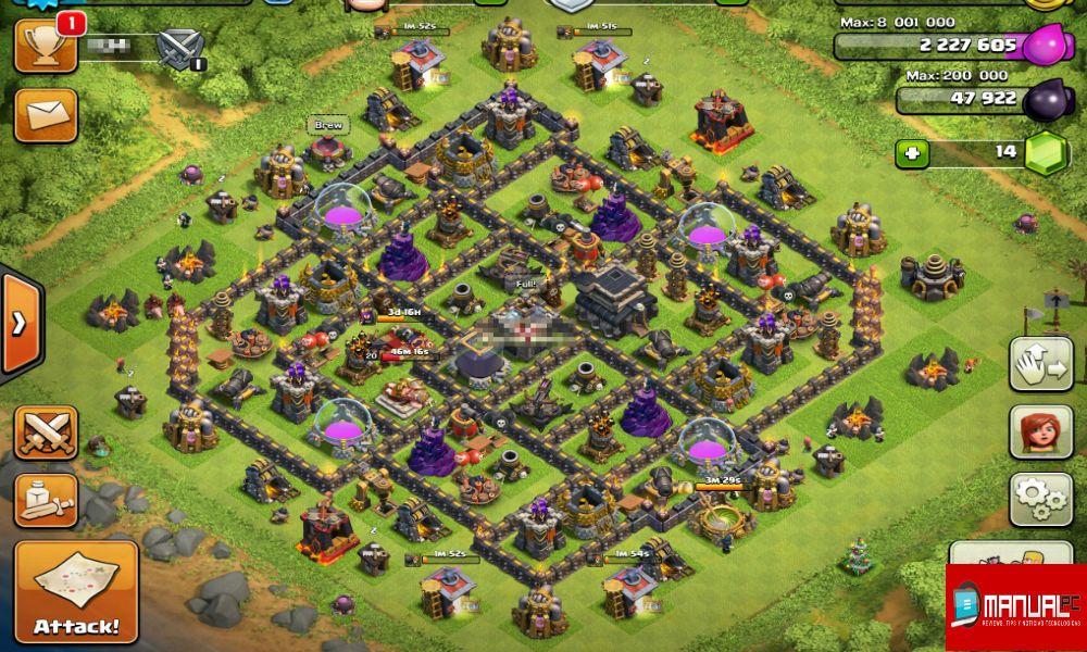 nueva base farming th9