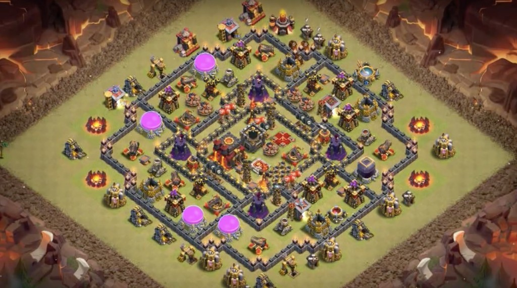 mejor base de guerra nivel 10 anti mineros
