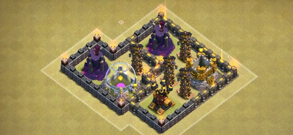 zona de la muerte de una base clash of clans